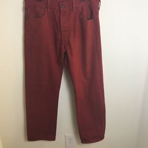 Red Levi jeans